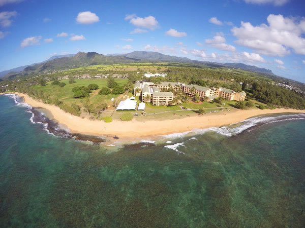 Aerial Of Luau Grounds